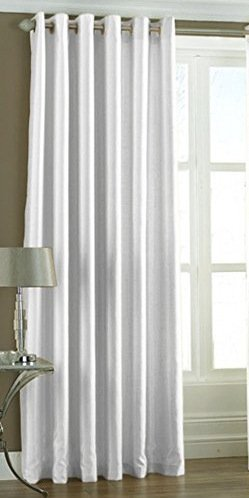 La elite Polyester Fancy Eyelet Plain Long Door Curtains - 1 Pcs - Size 4 Feet x 9 Feet - White