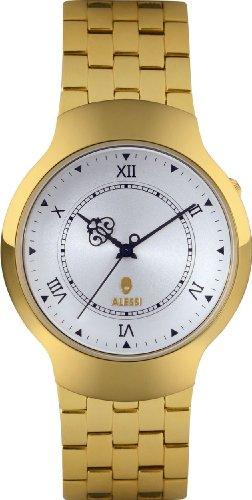 Alessi AL27023 - Orologio da polso, unisex, acciaio inox, colore: oro
