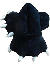 Happy Cherry Chaussures Enfants Unisexe Chaussons Flanelle Peluche Costume Cosplay Animaux Figure Souple Pantoufles Hiver Slipper Déguisement Taille Unique - Bleu