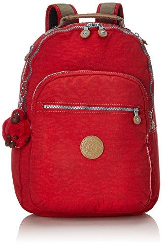 Kipling Clas Seoul, Unisex-Erwachsene Rucksack, Rot (True Red C), 15x24x45 cm (W x H x L)