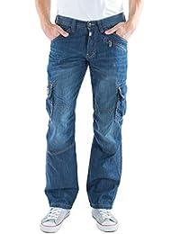 Timezone Herren Straight Jeans Loose Benito Cargo