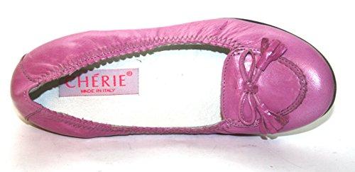 Cherie Kinder Schuhe Mädchen Ballerinas 7761 (ohne Karton) Pink (Fuchsia)