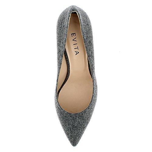 Evita Shoes Romina, Scarpe col tacco donna Grau