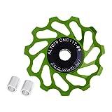 SGerste 11T MTB Keramik Kugellager Jockey Rad Riemenscheibe Road Fahrrad Umwerfer Unterstützung 8/9/10/11Speed grün