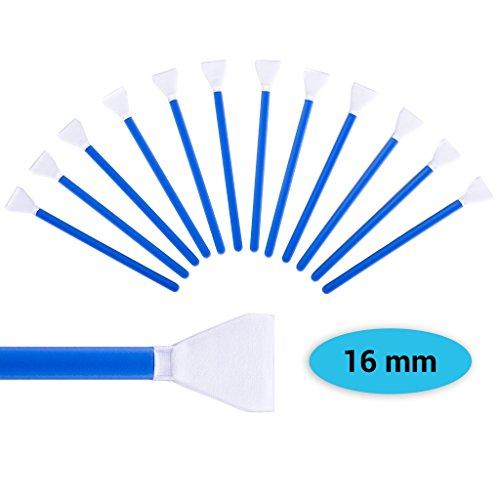Sensor Cleaning Swabs zur Reinigung von APS-C Sensoren, aus Mikrofaser, Kamera Reinigungsset mit 12x Swab in staubdichtem Pack von Lens-Aid (16 mm)
