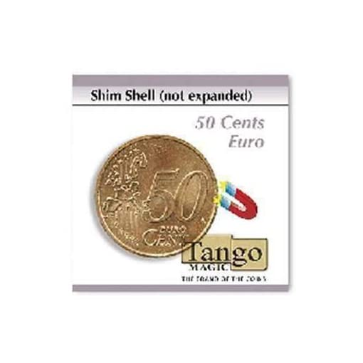 Shim-shell-not-expanded-50-cents-Euro-by-Tango-Magic-Magie-mit-Tuch-Zaubertricks-und-Magie SOLOMAGIA Shim Shell (not expanded) – 50 Cents Euro by Tango Magic – Magie mit Tuch – Zaubertricks und Magie -