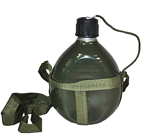 Halloweenia - Kostüm Accessoire- Military Mottoparty Camouflage Trinkflasche Army, 18cm, Grün