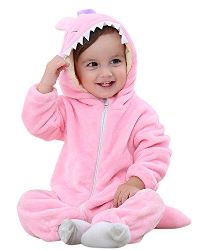 Kidsform Baby Flanell Winter Strampler Outfits Bekleidung Karikatur Tier Jumpsuit Spielanzug Spielzug Playsuit Monster 12-18M