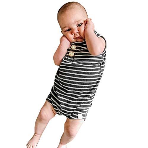 Baby und Kinder Babybody Ohne Arm mädchen und Junge aus 100% Baumwolle, Body 2er Set in Streifen Schwarz weiß Allence