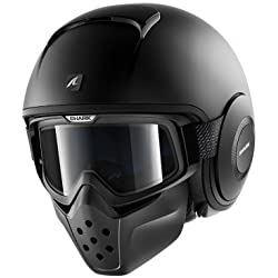 Shark - Casco Jet Drak, color negro mate