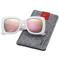 Polarspex Girls Elastic Square Oversized Kids Polarized Sunglasses - BPA Free