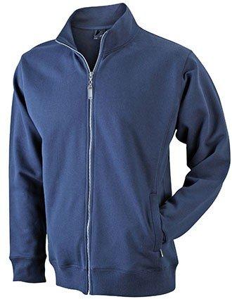 Herren Sweatjacke aus formbeständiger Sweat-Qualität XL,Navy