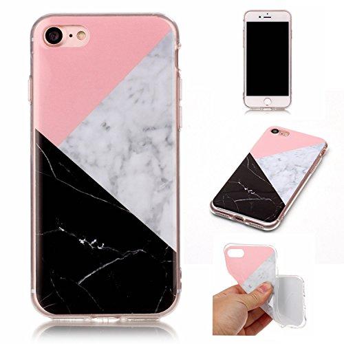 EKINHUI Case Cover Für Apple IPhone 7 Fall Marbling Beschaffenheit weiche TPU Abdeckung dünne ultra dünne Anti-Kratzer-Schlag-Absorptions-schützende rückseitige Abdeckungs-Shell ( Color : C ) H