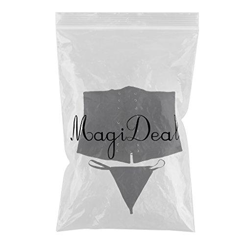 MagiDeal Shapewear Del Corpo Cintura Del Body Tuta Corsetto Bustini con Slip Intimo Tanga Perizoma per Donne Ragazze Nero