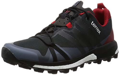 adidas Terrex Agravic Dark Grey Black Power Red Schwarz