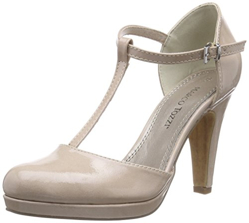 Marco Tozzi 24416, Chaussures à talons avec bride style salomés femme Beige - Beige (NUDE 250)