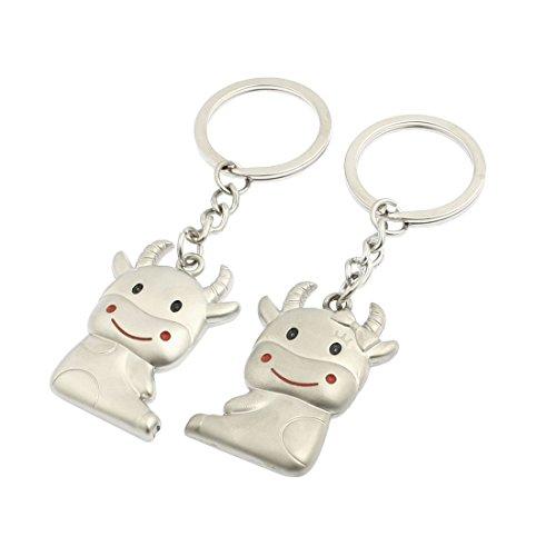 2 Stück Kuh Anhänger Design Schlüsselanhänger Schlüsselhalter für Liebhaber