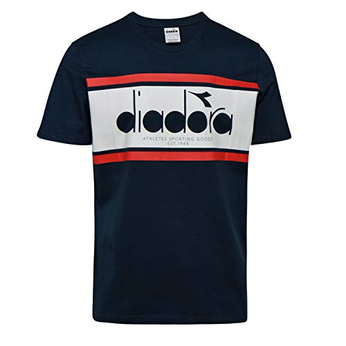 Diadora Sport Herren 502173627 SS Spectra T-Shirt, Blu Profondo/BCO Ottico/T, M -