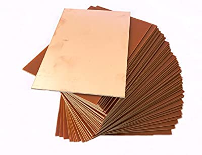 IncredibleRetail 5 Unit 6 x 4 inch size Single Sided Copper Clad PCB for DIY