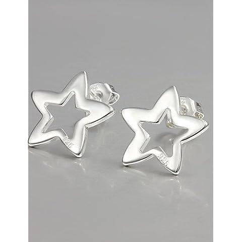 FPP argento placcato di vendita caldo orecchini vite prigioniera di disegno stelle per gli accessori raffinati modo della signora , silver
