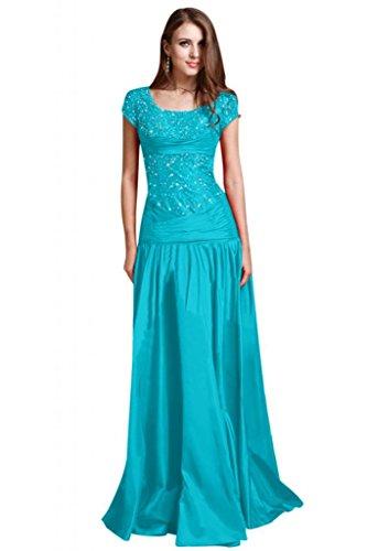 Sunvary perline A-line elegante con maniche da sera, abiti da sposa, abiti da donna Blue