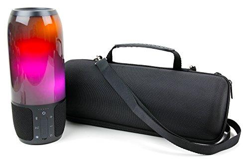 Duragadget Coque Noire pour JBL Pulse 3 Enceinte Haut Parleur sans Fil - Etui Rigide sur Mesure avec poignée et bandoulière Amovible