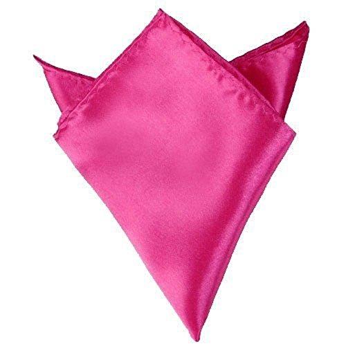Mélange intelligent Satin Hanky toutes les couleurs d'accessoires pour fête de mariage pour homme Rose - Rose fluo