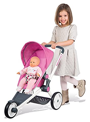 Smoby Toys- 255096- Bébé confort, Poussette Jogger poupée, Roues Silencieuses, Multi-positions, Réversible, 63,5 cm