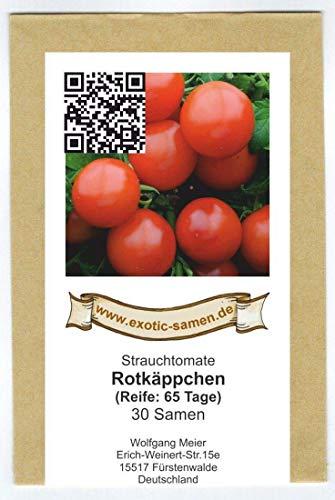 Balkontomate - Buschtomate - Rotkäppchen - 30 Samen