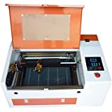 Ten-high Upgraded Version CO2 40W 110/220V Laser Engraving Cutting Machine with USB port,Ready to Use!