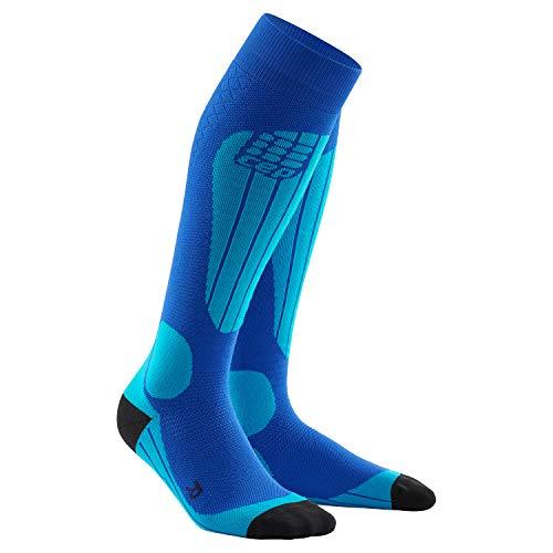 CEP – SKI Thermo Socks, Skisocken in blau, Größe III für Damen, Kompressionsstrümpfe Made by medi