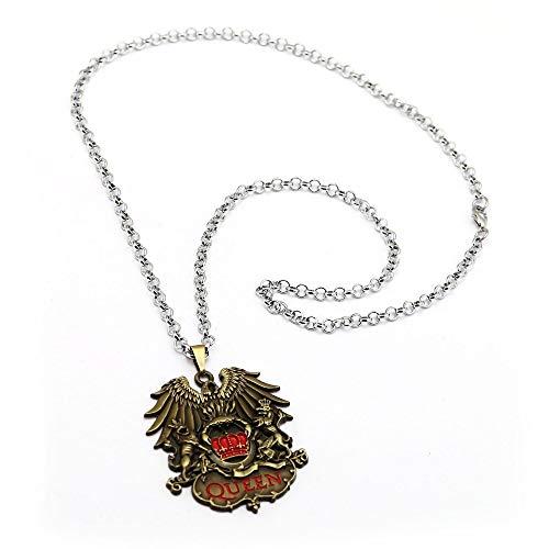 VAWAA Britische Rock Band Queen Halsketten Metall Anhänger Freundschaft Zubehör Halskette Für Fans Souvenir (Britische Rock-bands)