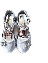 UK1stChoice-Zone ELSA & ANNA® Buona Qualità Ultimo Design Ragazze Principessa Regina delle Nevi Gelatina Partito Scarpe sandali (Argento, EURO 27-Lunghezza 18.0cm)