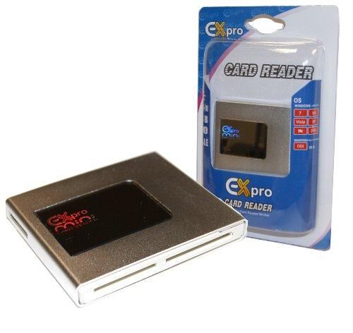 Ex-Pro Compact High-Speed-USB-Kartenleser, für SD, SDHC, Micro SD Transflash, MMC, RS-MMC, Memory Stick Duo, M2 usw.), Plug & Play, Windows 8, 7, 98SE, ME, 2000, XP, Vista, Mac OS V10.1-10.5X und neuer - Kamera Speicher Für Xd Karte