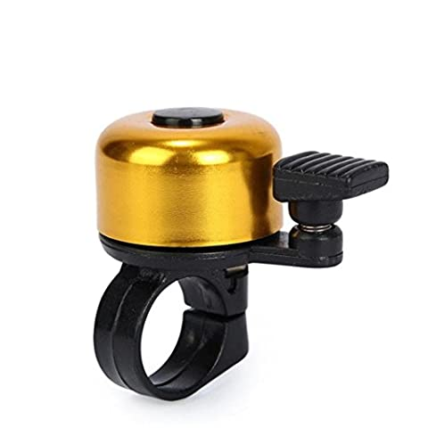 IGEMY For Safety Cycling Bicycle Handlebar Metal Ring Black Bike Bell Horn Sound Alarm (gold)