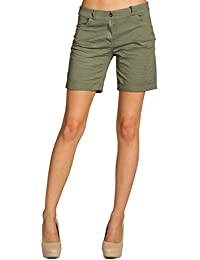 CASPAR BST006 Damen Baumwoll Sommer Shorts kurze Hosen