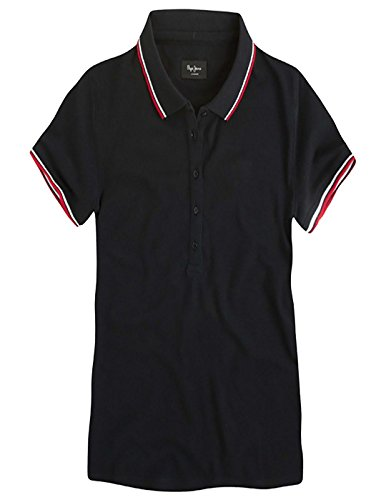 POLO BLACK WOMEN PEPE JEANS LORE Schwarz