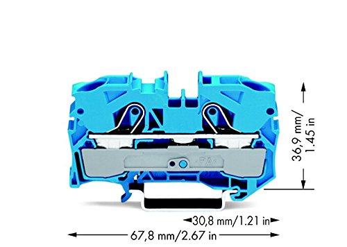 Wago 2-Leiter Durchgangsklemme 10/16 qmm, 2010-1204