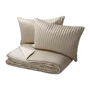 IKEA Karit - Couvre-lit et 2 housses de coussin, beige - 260x280 / 40x65 cm