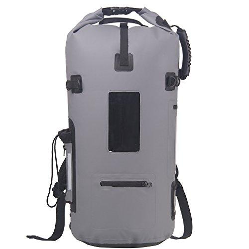 Esone cómodo impermeable bolsa seca, Top-Roll seco bolsa ideal para senderismo, canotaje,, kayak, natación, camping, gris