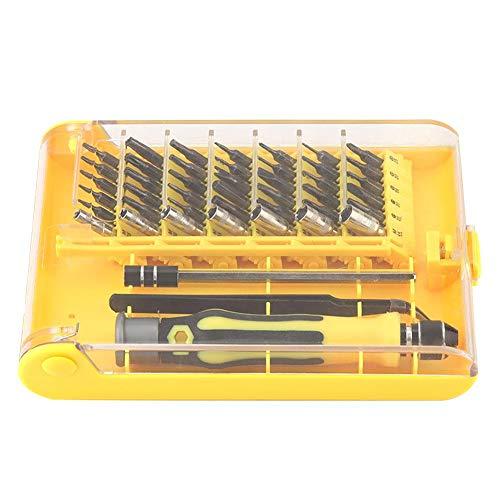 Zerone 45pcs Reparatur-Werkzeugsatz Vierkant/Pozidriv/Sechskant/Y/Stern/Kreuz/Schlitz-Schraubendreher und Bit-Set -