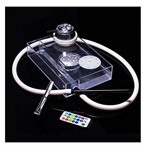 TYX HOME Transparente Acryl-Shisha Rauch-Remote Steuerung LED großen Rauch Hookah
