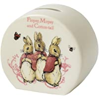 Beatrix Potter Flopsy Mopsy and Cotton Tail Money Bank