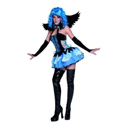 SMIFFYS Tainted Garden Stricken Angel Costume, Blue and Black (Black Angel Kostüm Kit)