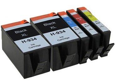 Printing Pleasure 5 Compatibles HP 934XL HP 935XL Cartuchos de Tinta Reemplazo para HP Officejet Pro 6230 6812 6815 6820 6825 6830 6835 - Negro/Cian/Magenta/Amarillo, Alta Capacidad
