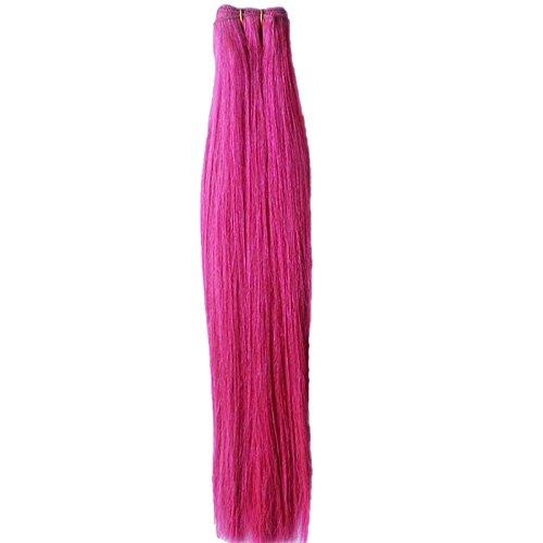 40,6 cm pouce (40 cm) 5 A droite cheveux non traités brésiliens vierges cheveux cheveux trame remy extension de cheveux droite # rose vif européenne cheveux couleur