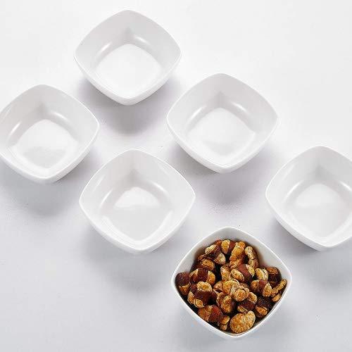 (MALACASA, Serie Ramekin.Dish, 6-TLG. Set Mini Porzellan Dessert Schälchen für Nuss, Snack, Vorspeise, Nachtisch 4