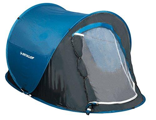 Dunlop Wurf Zelt 2 Personen 255x155x95cm blau/grau in Transporttasche