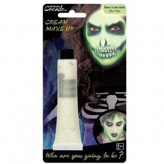 Create Leuchtet Im Dunklen Gesichtsfarbe Halloween Kostüm Party Creme Rohr (Fett Halloween Kostüm)