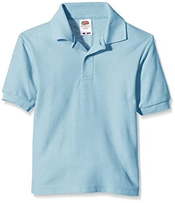 Fruit of the Loom Unisex Kids 65/35 Short Sleeve Polo Shirt : everything 5 pounds (or less!)